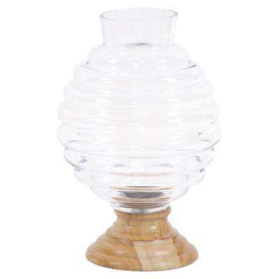 Clear Glass Beehive Vase - Small