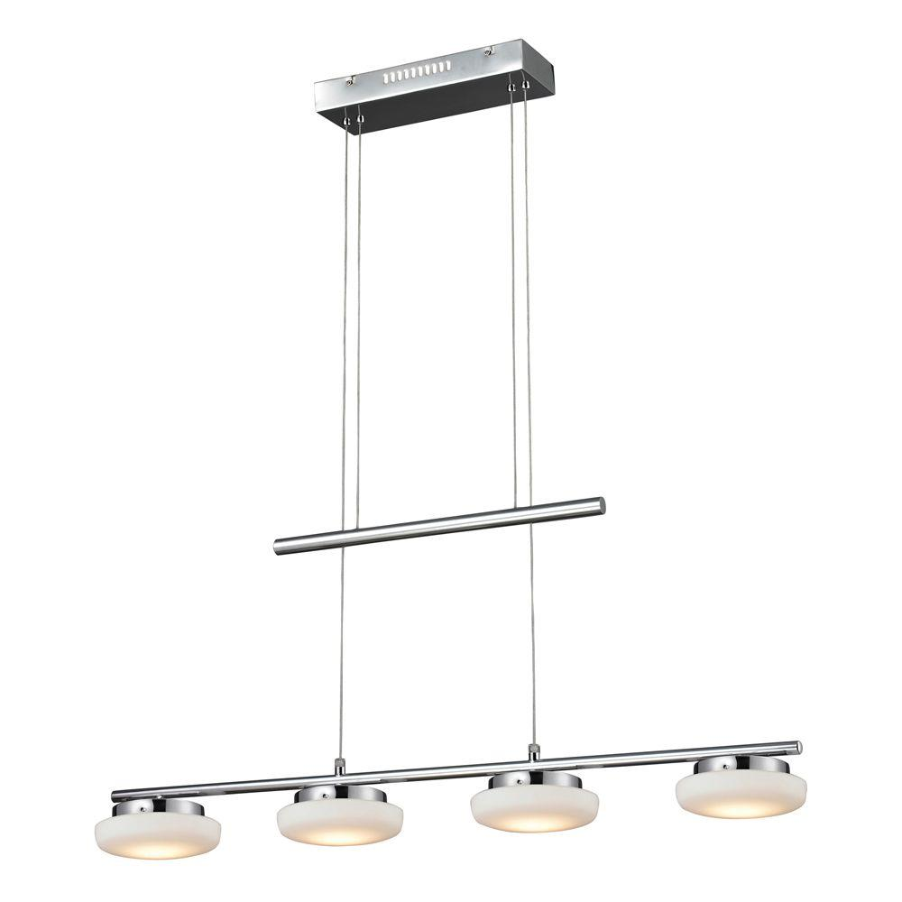 Titan Lighting Feltham 4-Light Ceiling Mount Chrome Island Light