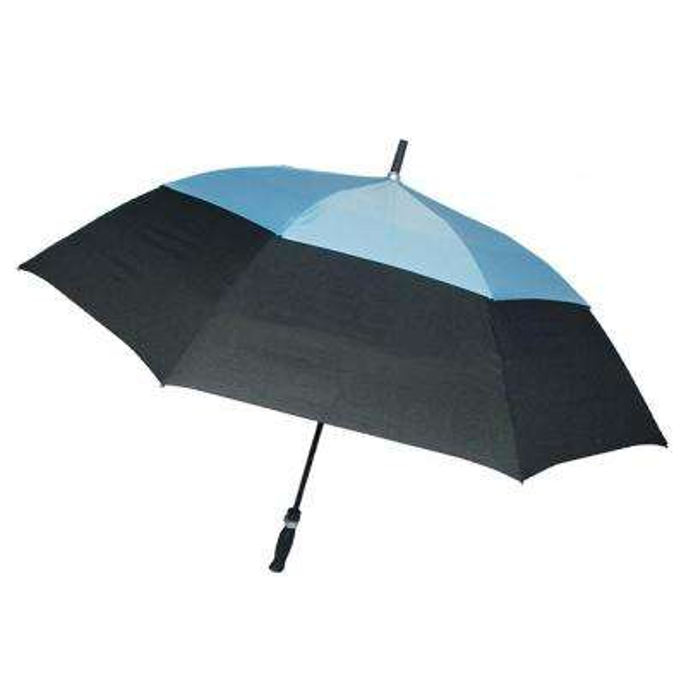 62 in. Arc Windguard Auto Open Golf Umbrella in Black/Blue