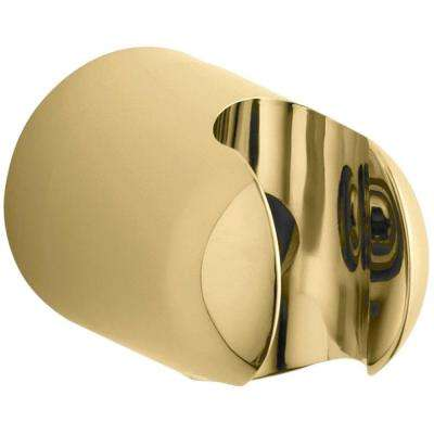 MasterShower Fixed Wall Bracket, Vibrant Polished Brass