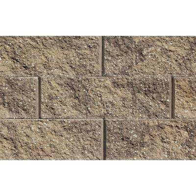 Mini 3 in. H x 8 in. W x 9 in D Sandstone-Brown Concrete Wall Cap (104 Pieces/69 Linear ft. /Pallet)