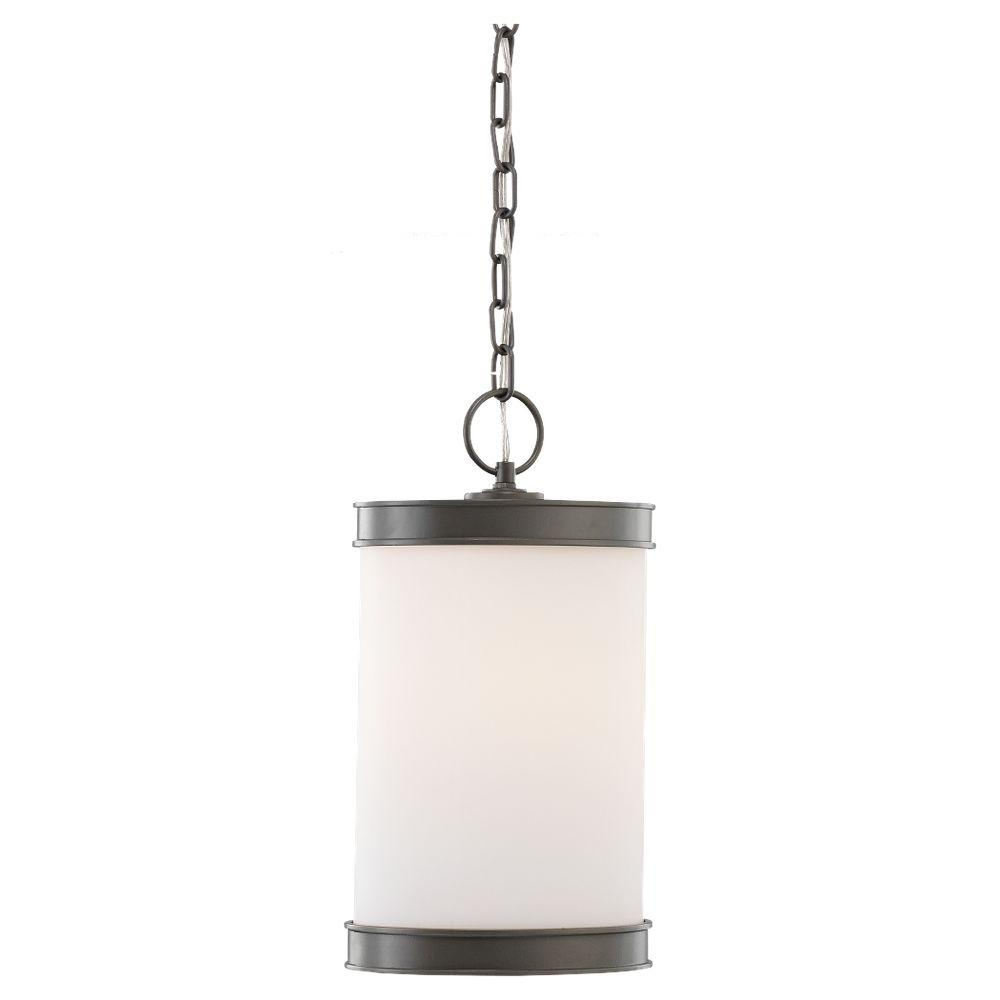Sea Gull Lighting Amsterdam 1-Light Outdoor Rustic Pewter Pendant-DISCONTINUED