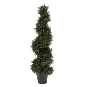 48 in. Artificial Cypress Spiral Topiary