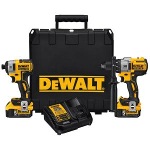 Dewalt 20-Volt MAX XR Lithium-Ion Cordless Brushless Hammerdrill/Impact Combo Kit (2-Tool)... by DEWALT