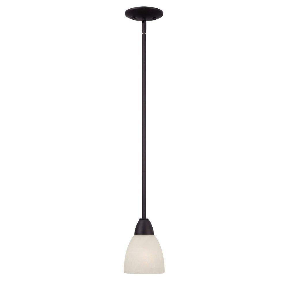 Torino 1-Light Oil-Rubbed Bronze Mini Pendant