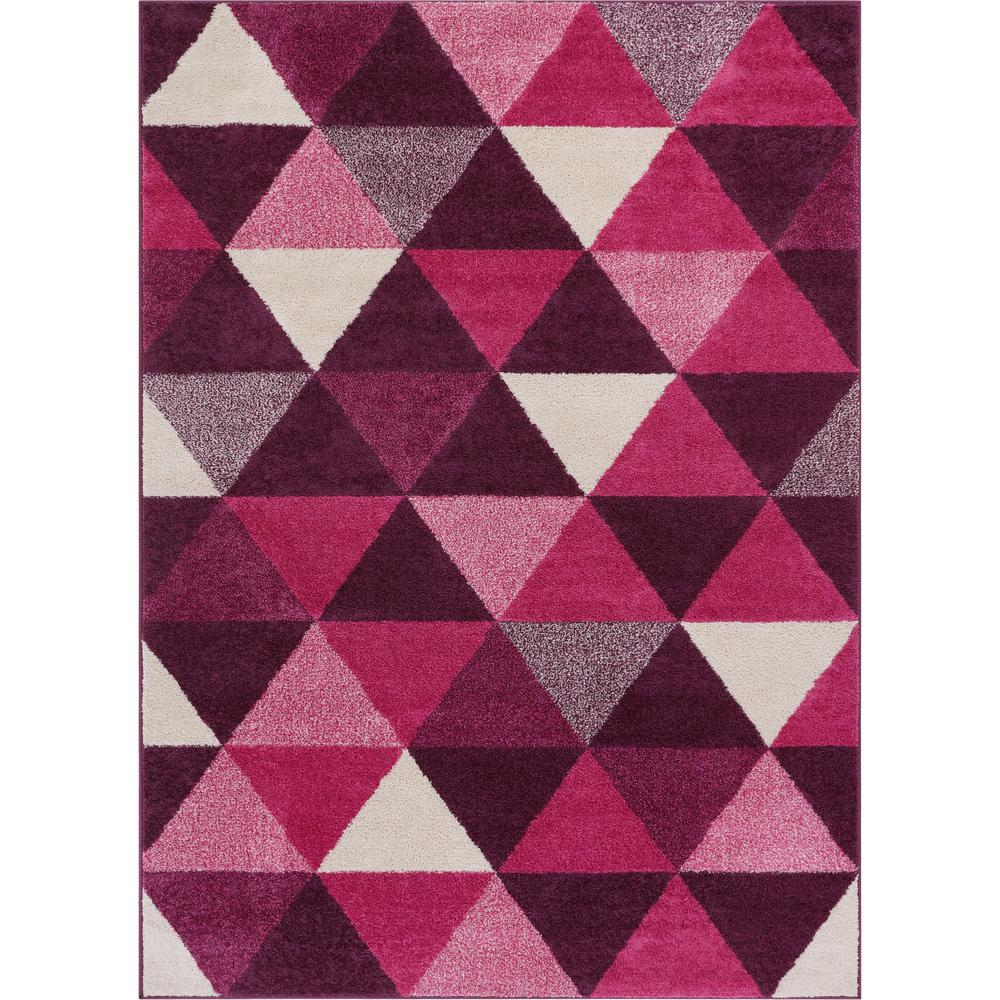 Purple Triangle Rug: Well Woven Mystic Alvin Purple 5 Ft. X 7 Ft. Modern