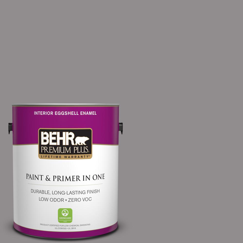 1 gal. #PPU16-14 Plum Smoke Zero VOC Eggshell Enamel Interior Paint