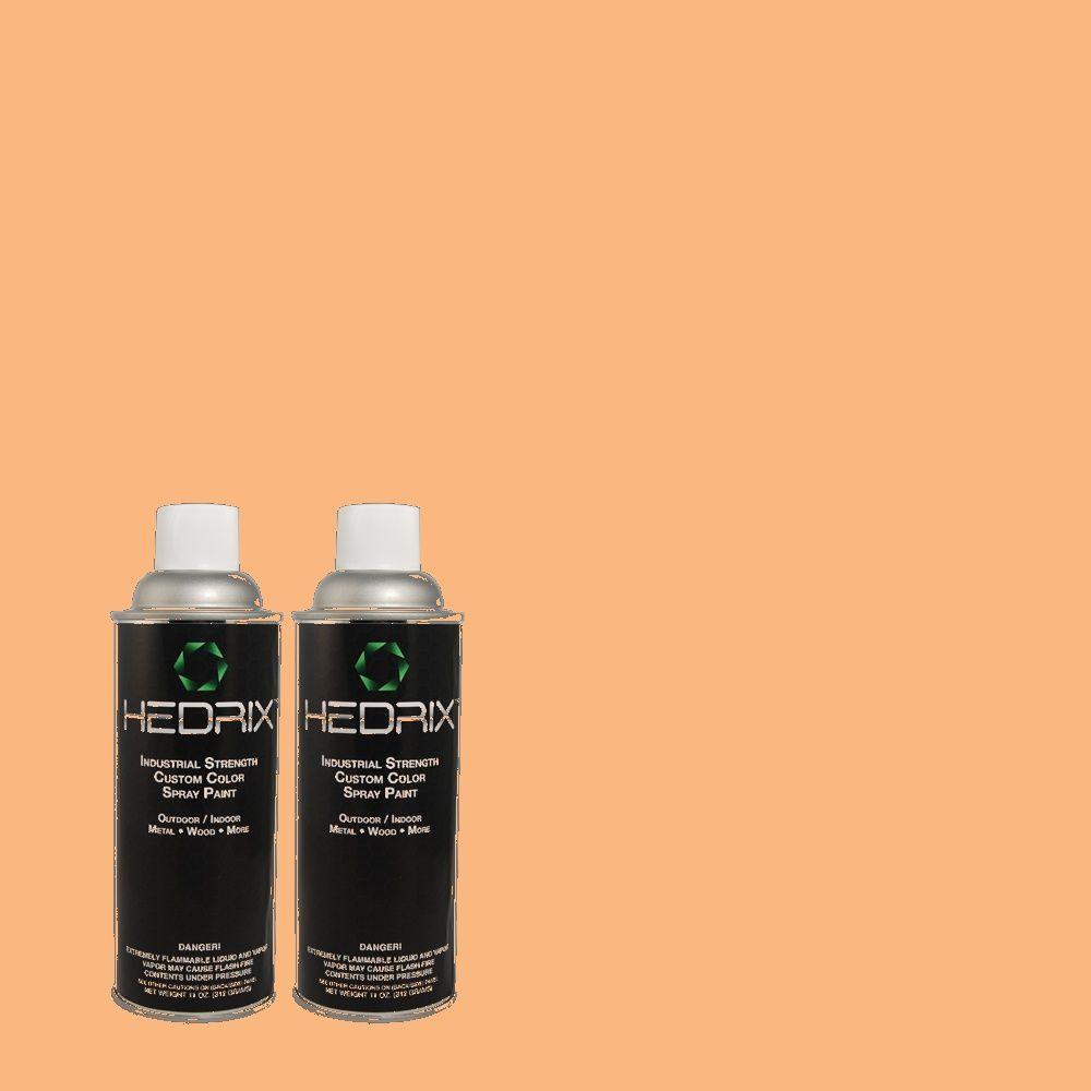 Hedrix 11 oz. Match of 250D-4 Autumn Mist Flat Custom Spray Paint (2-Pack)
