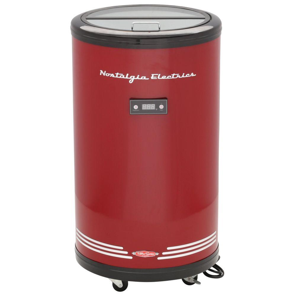 Nostalgia Electrics Retro Series 1.7 cu. ft. 70-Can 120-Volt Party Cooler in Red