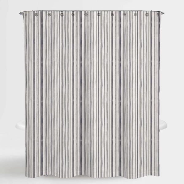 A1 Home Collections 72 in. x 72 in. Stripe Neutral Mira