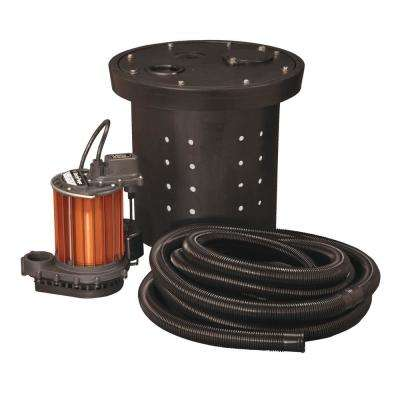 CSP-Series 1/3 HP Submersible Crawl Space Sump Pump Kit
