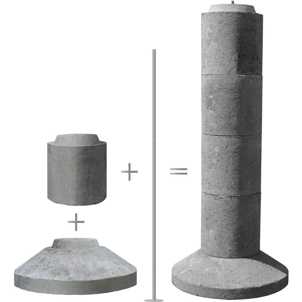 Pillar Concrete Addition : Ez tube section stackable concrete pier footing eztube
