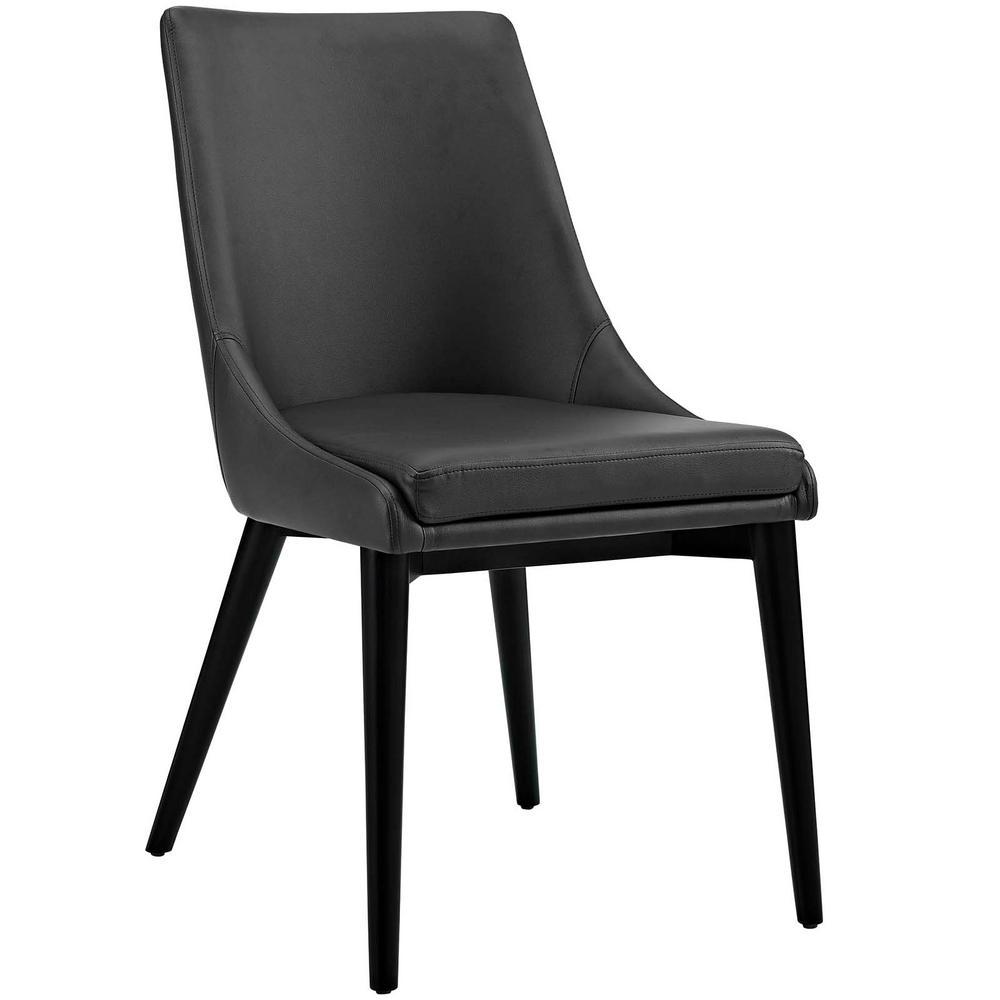 Viscount Black Vinyl Dining Chair