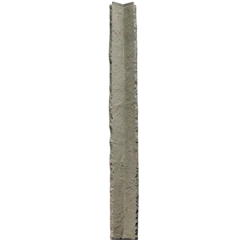 Sandstone Gray 3.5 in. x 48 in. Faux Polyurethane Stone Inside Corner (2-Pack)