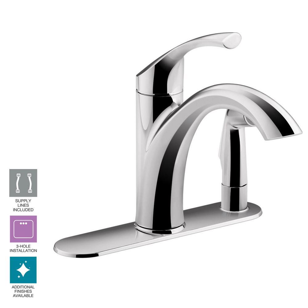 Kohler Kitchen Faucets K Single Handle Pullout Spray: KOHLER Mistos Standard Single-Handle Pull-Out Sprayer