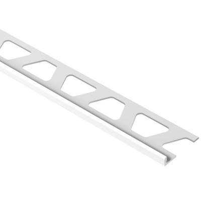 Jolly Bright White 3/16 in. x 8 ft. 2-1/2 in. PVC L-Angle Tile Edging Trim