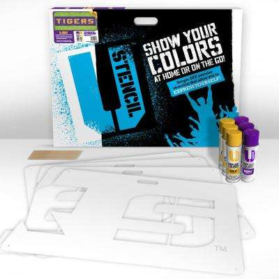 "LSU ""TIGERS"" Lawn Stencil Kit"