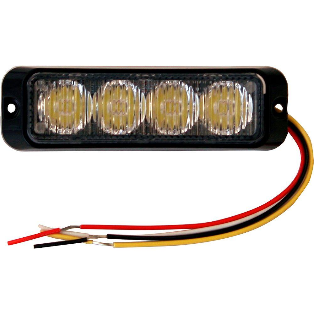 Light bars auto accessories the home depot 4875 inch amber rectangular mini strobe light aloadofball Images