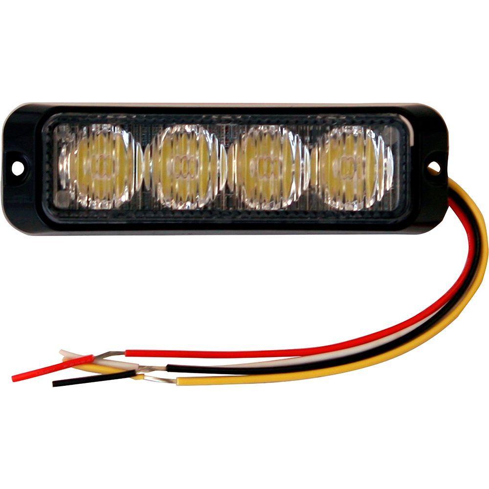 4.875 Inch Amber Rectangular Mini Strobe Light