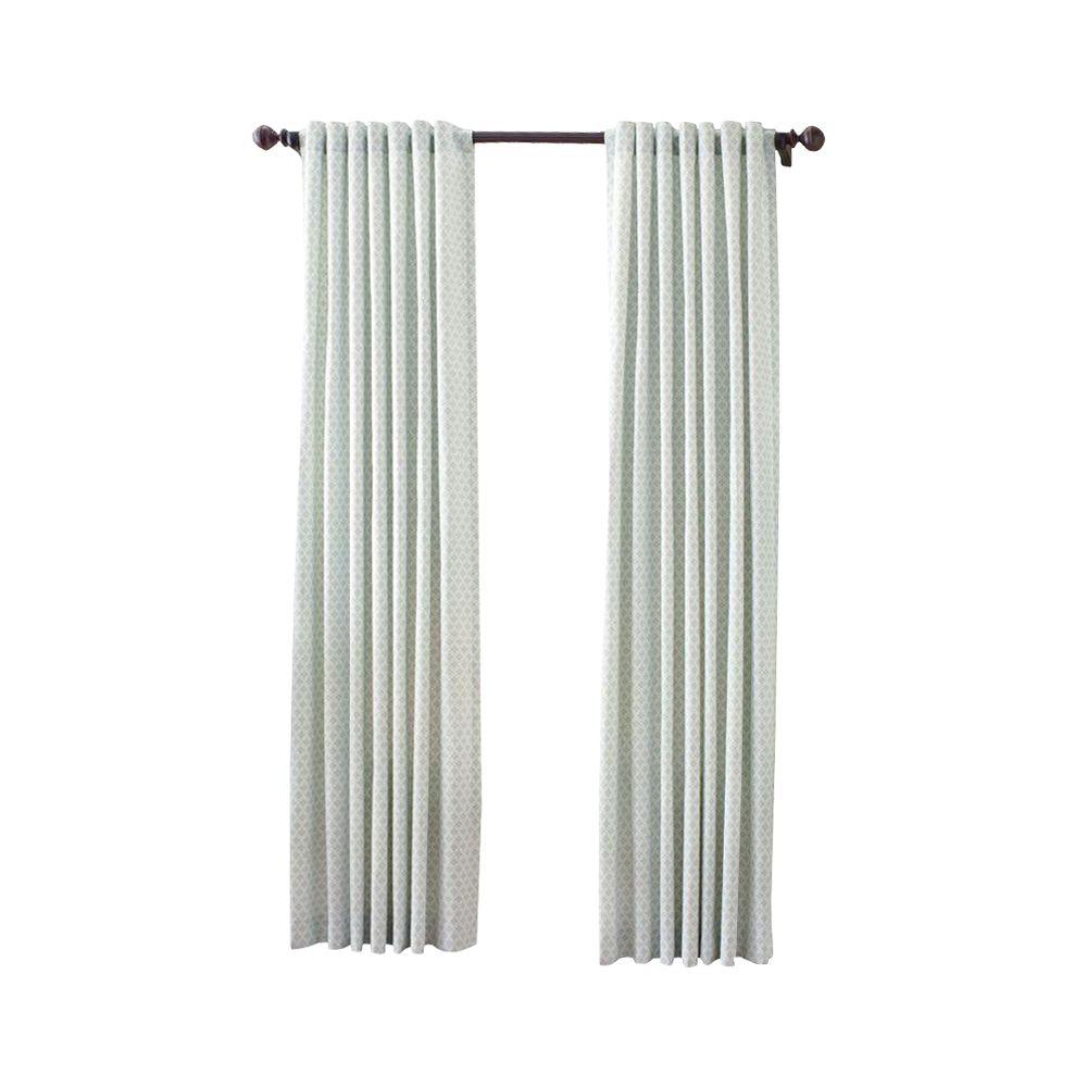 Attractive Martha Stewart Living River Mist Moroccan Geo Back Tab Curtain 1622316    The Home Depot