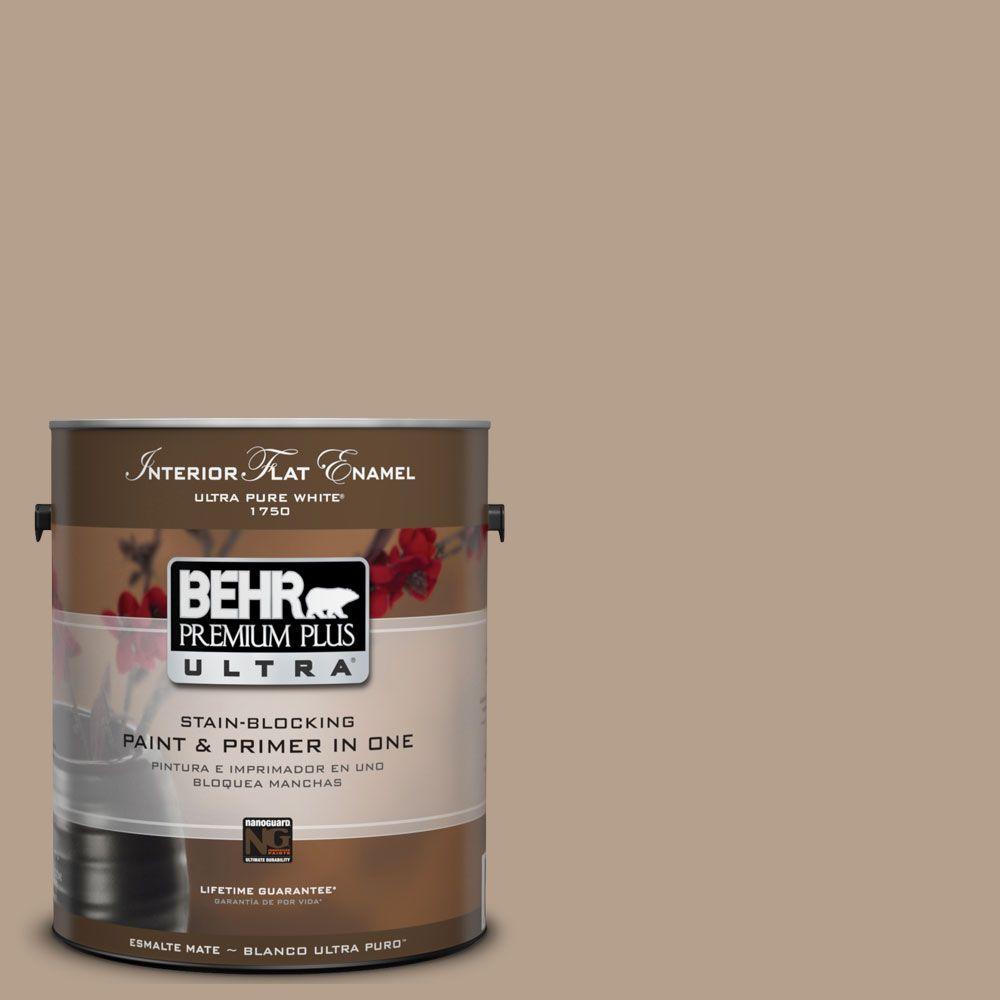 BEHR Premium Plus Ultra 1-Gal. #UL160-18 Chateau Interior Flat Enamel Paint