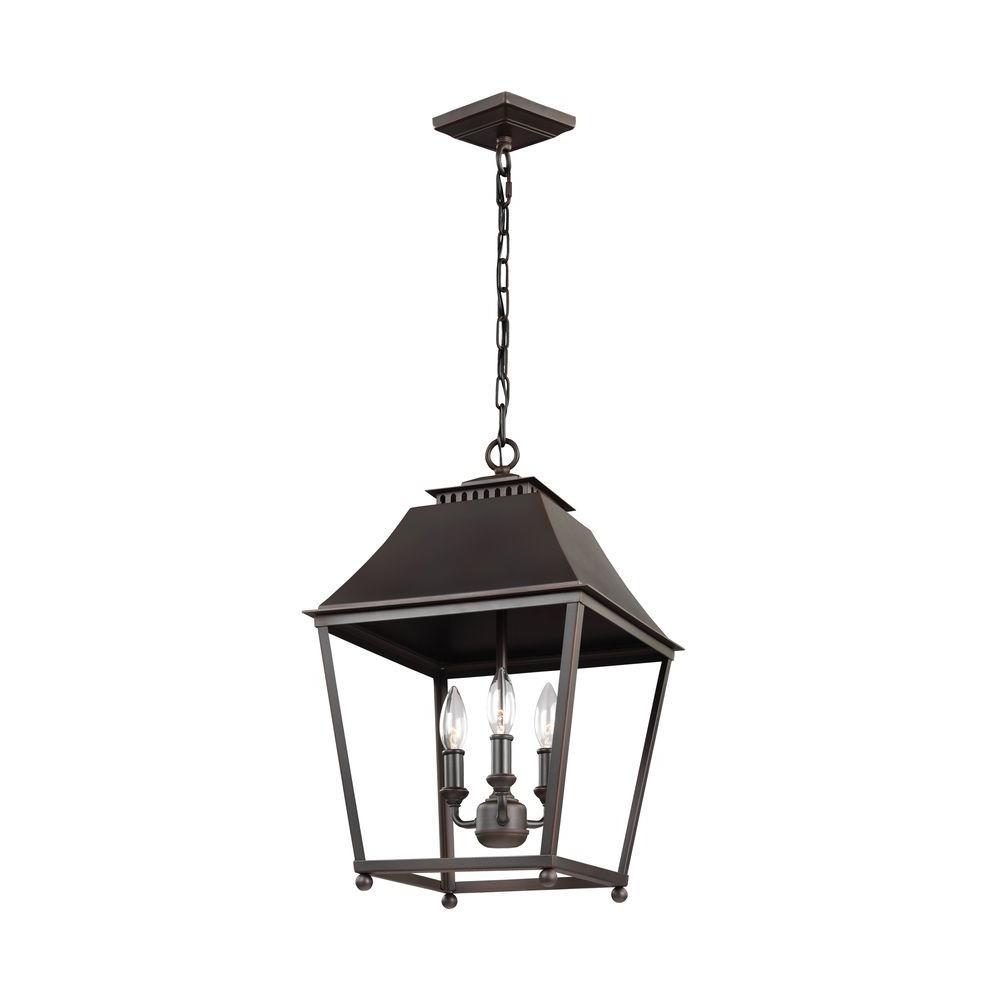 Galloway 3-Light Dark Antique Copper/Antique Copper Indoor Pendant
