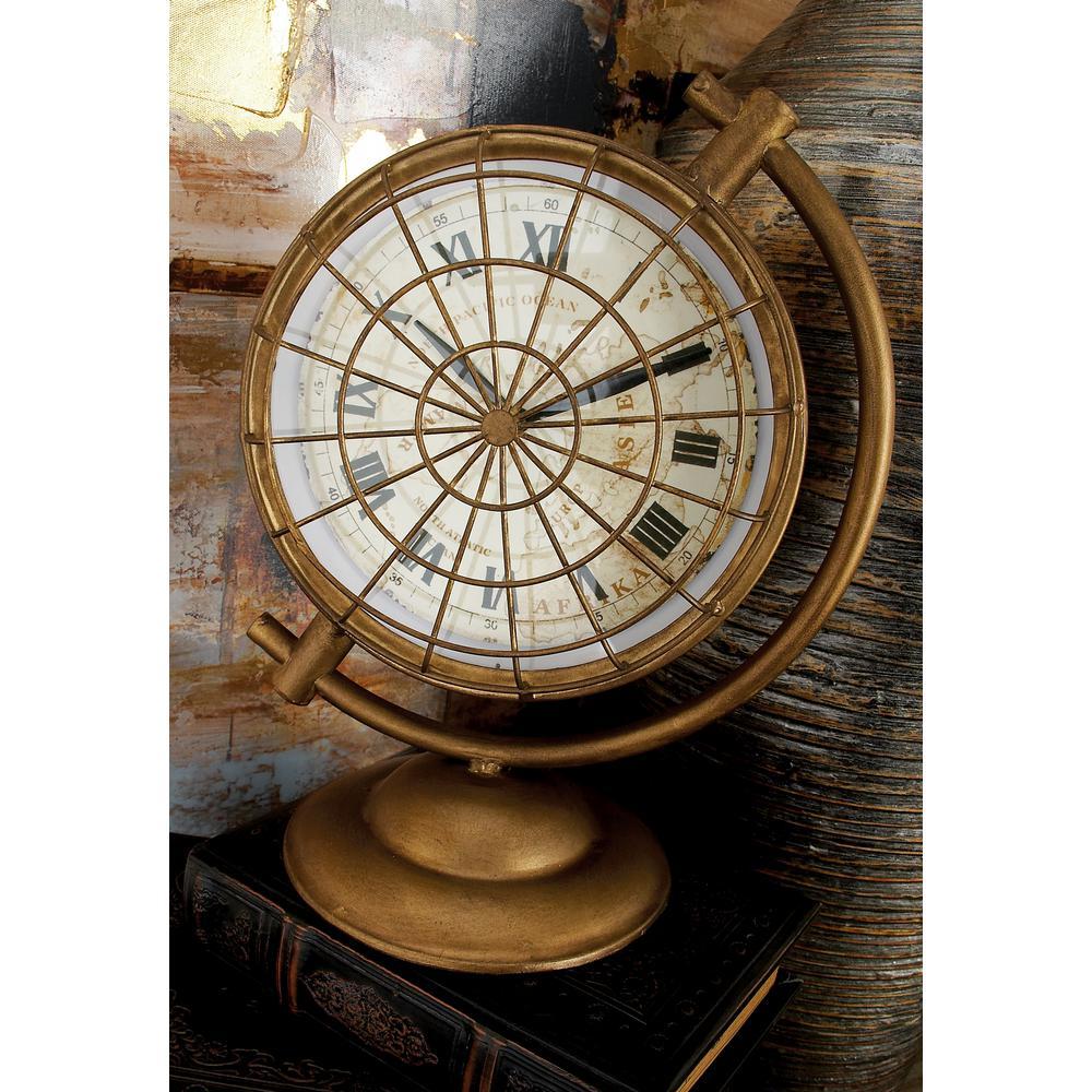Attirant Vintage Style Metallic Round Table Clock