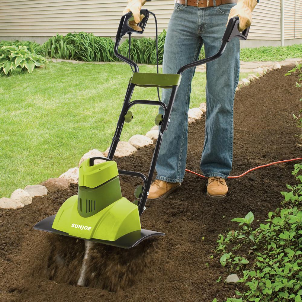 18 in. 9 Amp Corded Electric Garden Tiller/Cultivator
