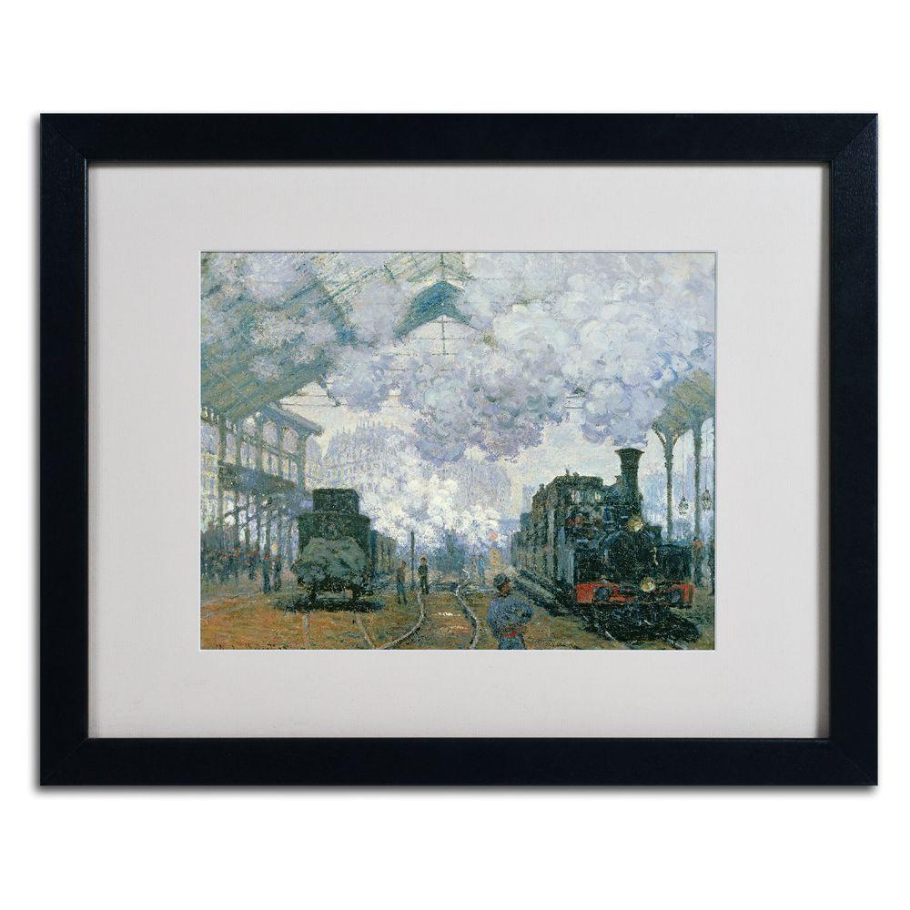 16 in. x 20 in. Gare Saint-Lazare Arrival of a Train