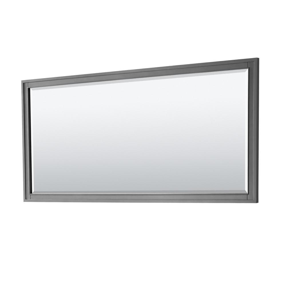 Wyndham Collection Margate 70 in. W x 33 in. H Framed Wall Mirror in Dark Gray