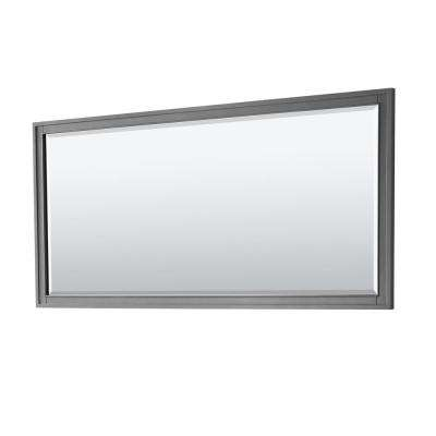 Margate 70 in. W x 33 in. H Framed Wall Mirror in Dark Gray