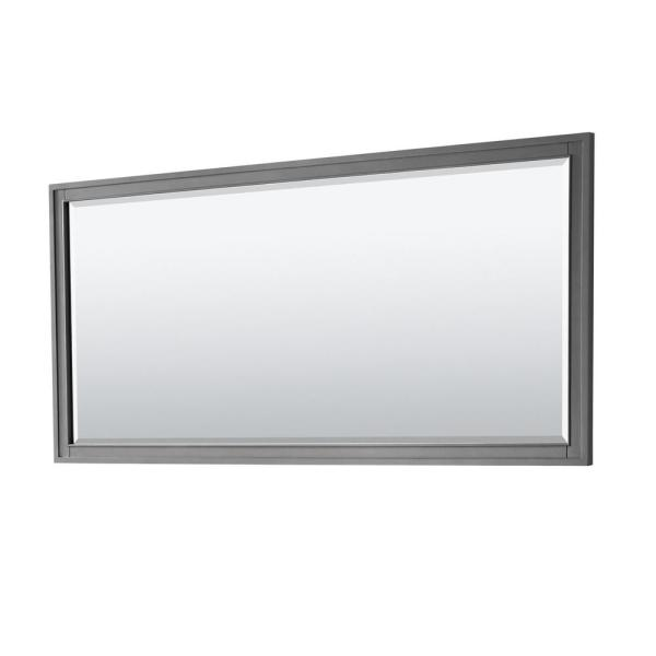 Margate 70 in. W x 33 in. H Framed Rectangular Bathroom Vanity Mirror in Dark Gray