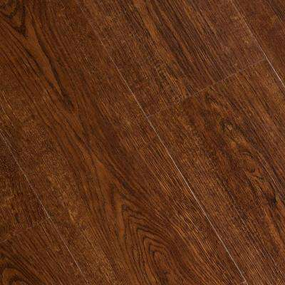 Wire Brushed Cordova Cherry 6 mm x 7-1/16 in. Width x 48 in. Length Vinyl Plank Flooring (23.64 sq.ft/case)