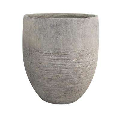 Unearthed 17 in. W x 19 in. H Tall Fiberglass Planter