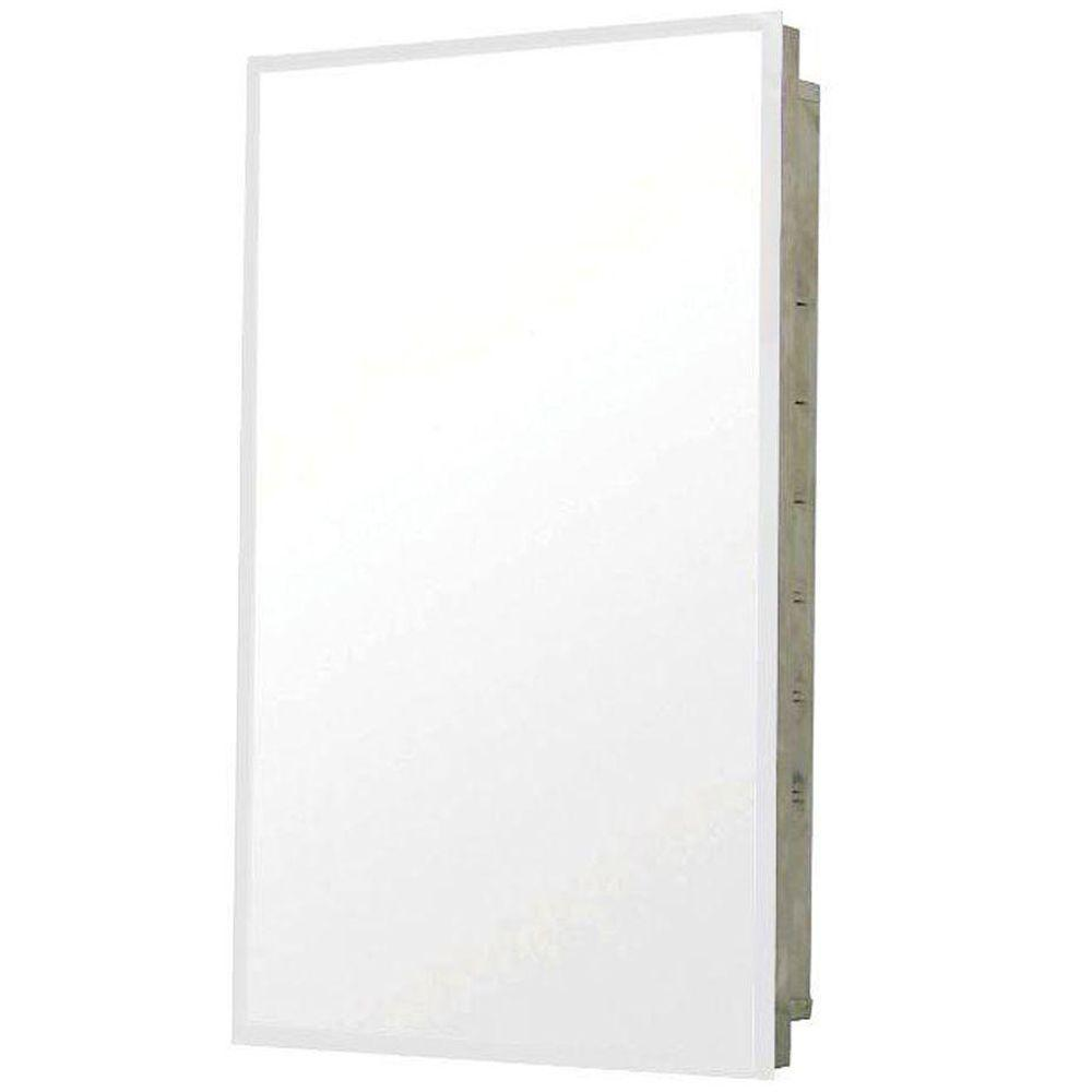 Pegasus 16 in. W x 20 in. H Frameless Stainless Steel Recessed Bathroom Medicine Cabinet