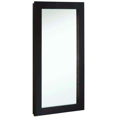 Ventura 16 in. W x 30 in. H x 5 in. D Framed Surface-Mount Bathroom Medicine Cabinet in Espresso