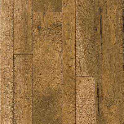 Take Home Sample - Hickory Warm Reflection Solid Hardwood Flooring - 5 in. x 7 in.