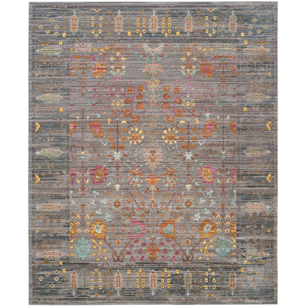 Safavieh Valencia Gray Multi 8 Ft X 10 Ft Area Rug