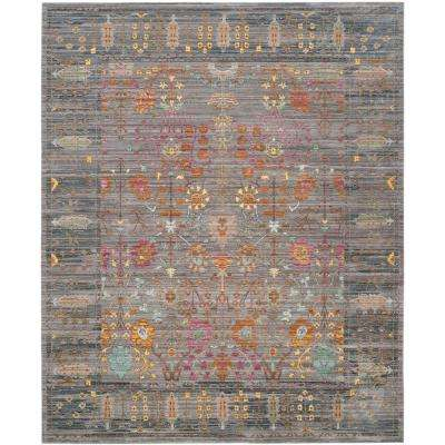 Valencia Gray/Multi 8 ft. x 10 ft. Area Rug