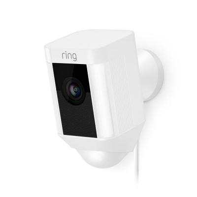 Spotlight Cam Wired Outdoor Rectangle Security Camera, White