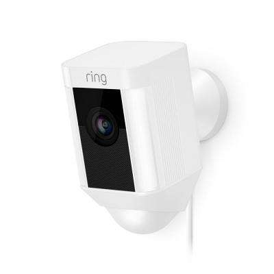 Refurbished Spot Light Cam Wired Outdoor Rectangle Security Camera in White