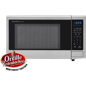 Carousel 1.1 cu. ft. 1000-Watt Countertop Microwave Oven in Stainless Steel (ISTA 6 Packaging)