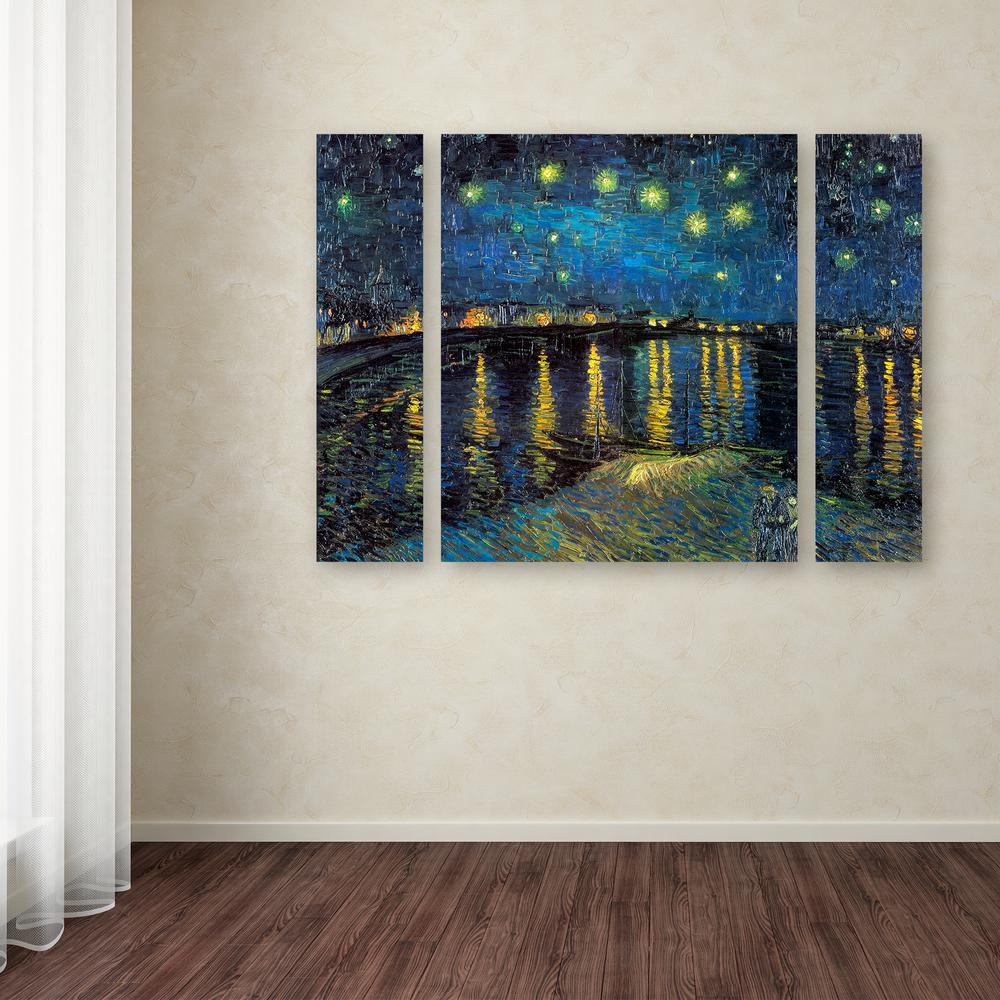 Trademark Fine Art 24 in. x 32 in.  The Starry Night II  & Trademark Fine Art 24 in. x 32 in.