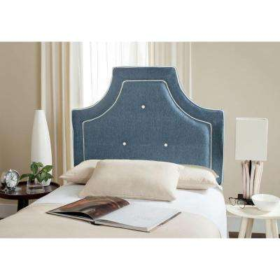 Tallulah Denim Blue & White Twin Headboard