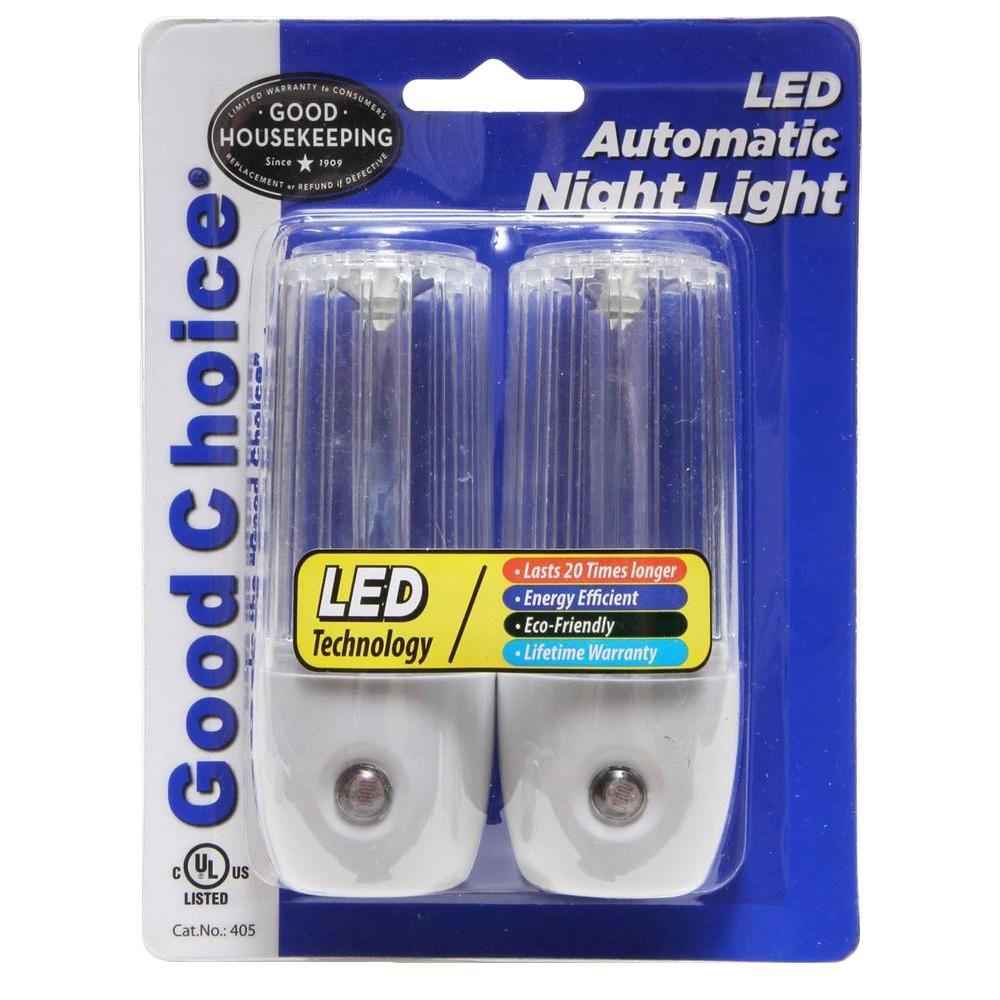Good Choice Encapsulated Dusk-To-Dawn Automatic LED Night Light (2-pack) - White-DISCONTINUED