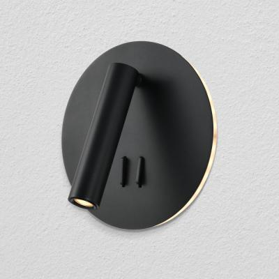 Tania 6.75 in. Black LED Sconce