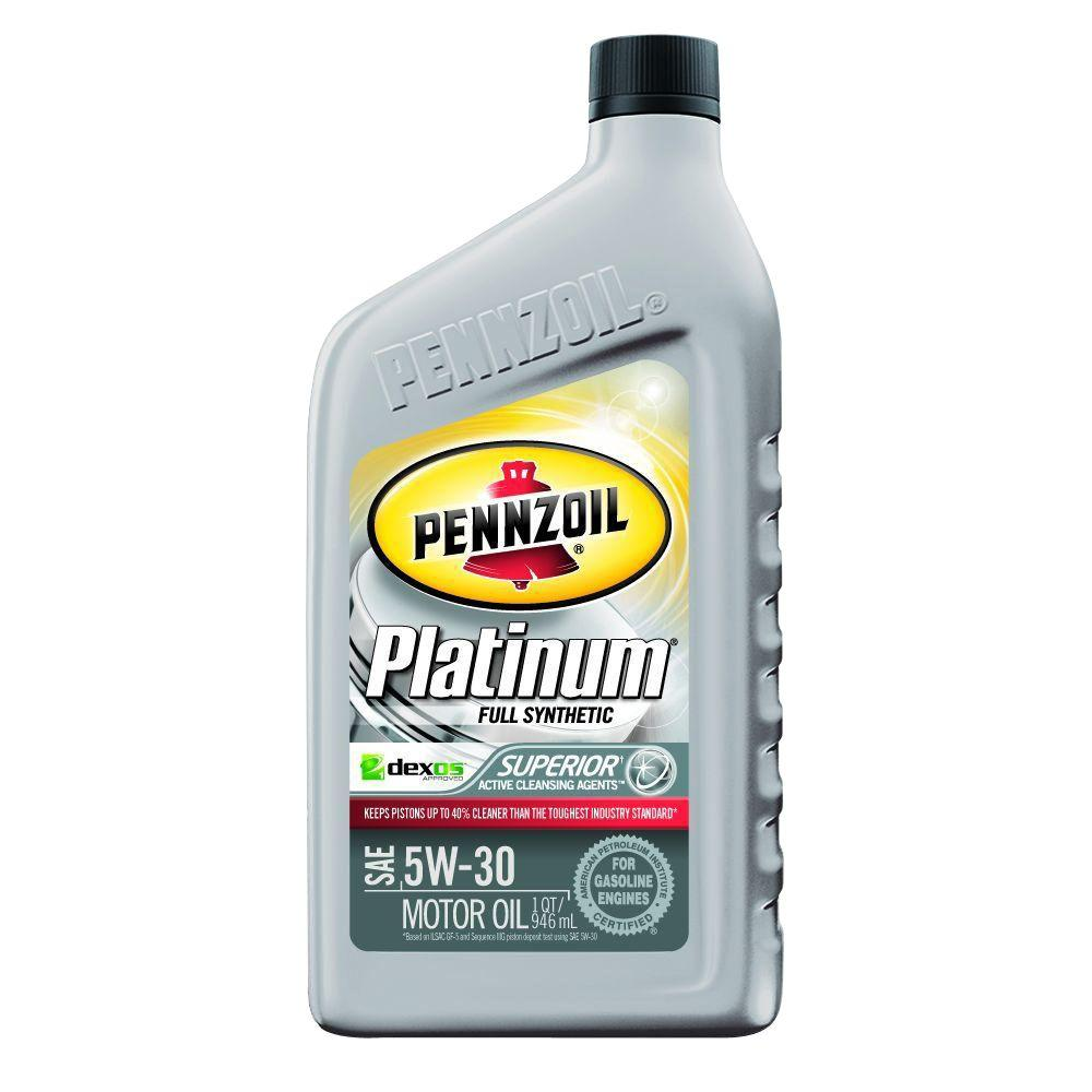 Pennzoil 5w 30 platinum full synthetic motor oil with for Pennzoil 5w 30 synthetic motor oil