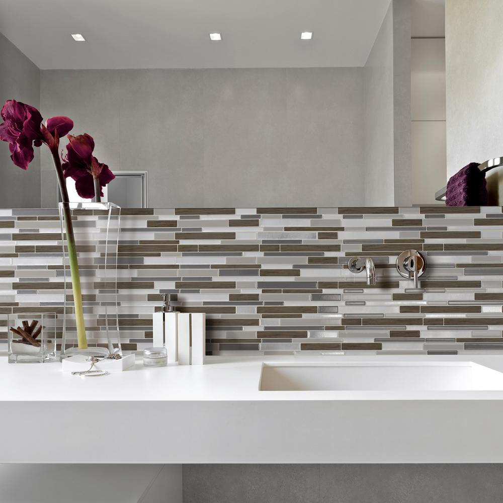 Smart tiles the home depot milano argento 1155 in w x 963 in h peel and dailygadgetfo Images
