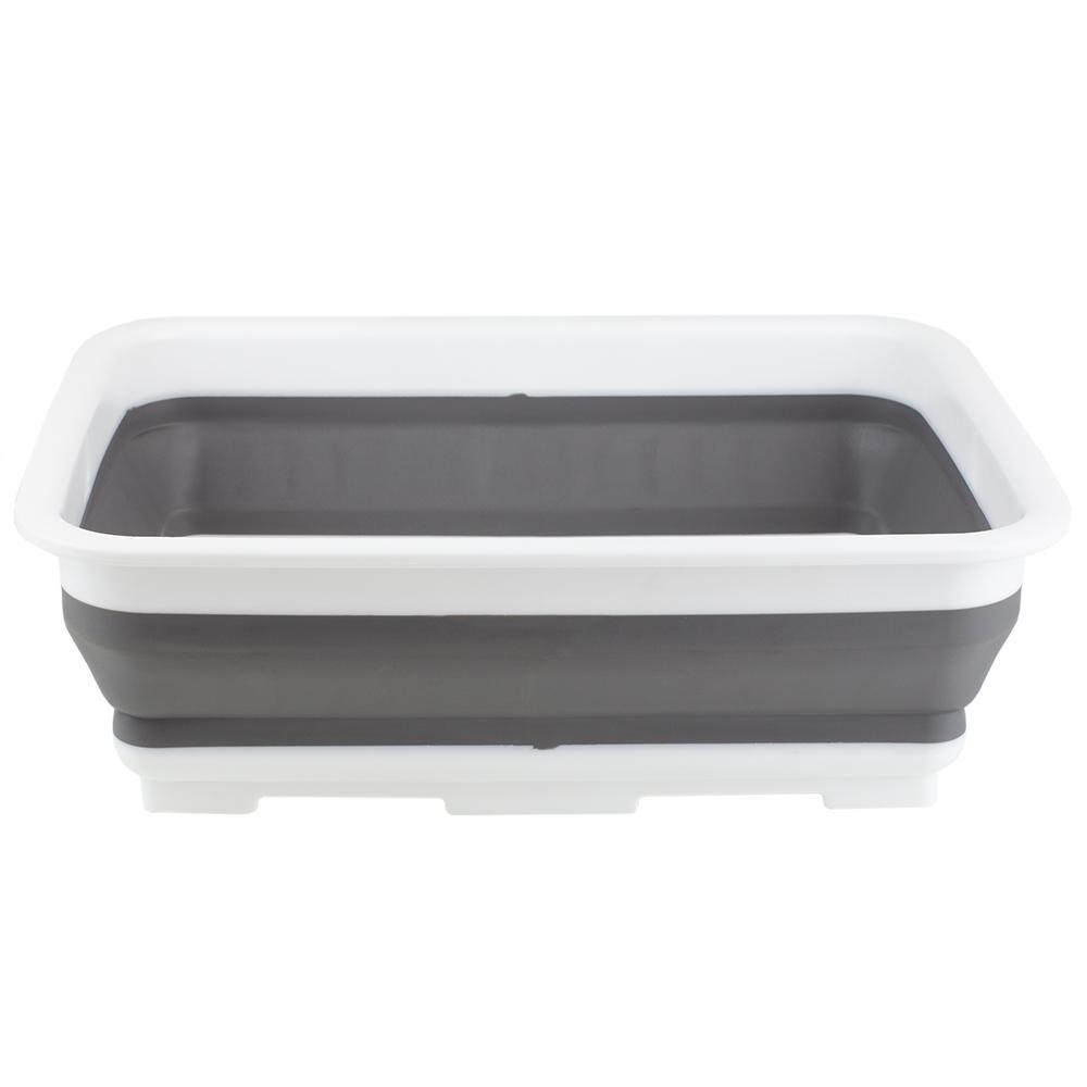 Grey Collapsible Washing BIn