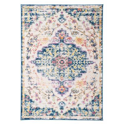 Vintage Traditional Bohemian 3 ft. 3 in. x 5 ft. Dark Blue Area Rug